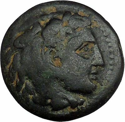 Alexander III the Great 336BC Ancient Greek Coin Hercules Bow Club i33491
