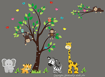 Nursery Wall Decals - Wall Stickers Kids Room - Better than Vinyl Wall Decals