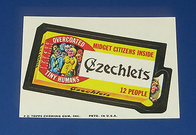 73 WACKY PACKAGES SERIES 9 TB CZECHLETS NM+