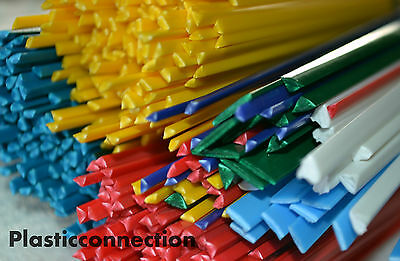 Plastic welding rods mix starter 100 pcs ABS green, blue, red, yellow, white