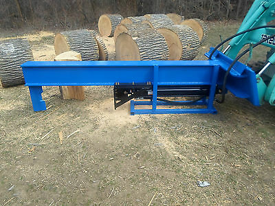 All Wood Log Splitter Skid Steer Model Commercial Grade