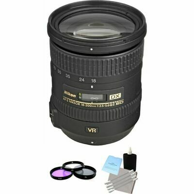 Nikon Nikkor AF-S 18-200mm F/3.5-5.6 II VR DX ED G Lens + UV Kit & Cleaning Kit