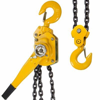 3/4 Ton Lever Block Chain Hoist Ratchet Type Come Along Puller 5FT Chain Lifter
