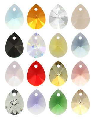 Genuine SWAROVSKI 6128 XILION Mini Pear Crystals Pendants * Many Sizes & Colors
