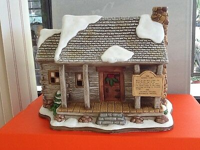 ONE OF RAREST! LEFTON Colonial Village- the NOTFEL CABIN! Hallmrkd w/Labels 1994