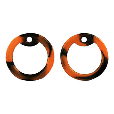2 Orange and Black Camo  Dog Tag Silencers - Military GI Silencer - Tag-Z