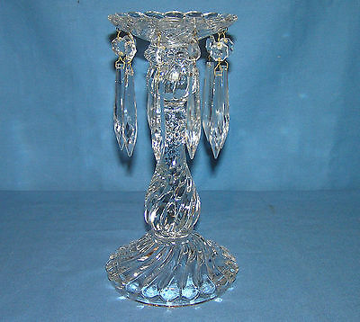 """Fostoria Colony 10"""" Candlestick With 10 Prisms"""