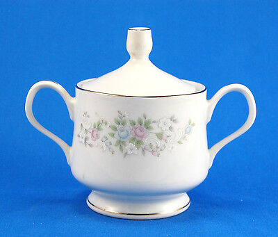 Carlton - Japan CORSAGE Sugar Bowl and Lid 3.125 in. Pink Blue White Flowers