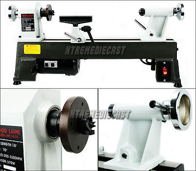 HEAVY DUTY 5 SPEED BENCH TOP POWER TURNING WOOD LATHE TOOLS NEW 10 x 18""