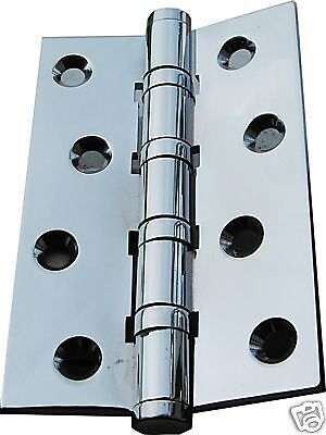 Ball Bearing Door Hinges Solid Brass Chrome Plated 4 x 2-5/8 4BB