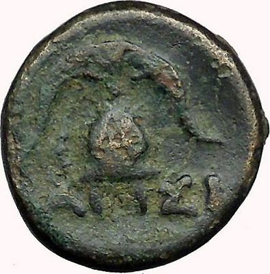 DEMETRIUS I Poliorcetes 294BC  Ancient Greek Coin HELMET SHIELD i33751