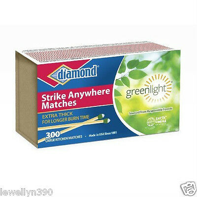 48 Packs Diamond Strike Anywhere Matches  300 Count Factory Sealed Fresh Sale
