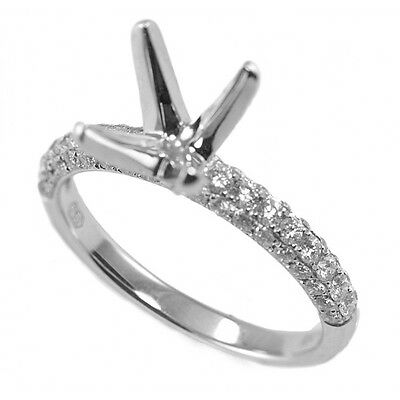 4-Prong Cathedral Micro-pave Diamond Engagement Ring Setting INRE5668