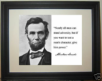 """President Abraham Lincoln """" nearly all men"""" Quote Framed Photo Picture #wc2"""