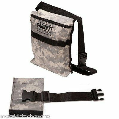 New Garrett CAMO Canvas Metal Detector Finds Bag/Pouch with Belt and Extender