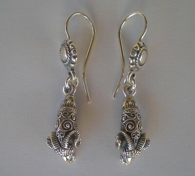 Ram's Head Silver Earrings -High Quality Item - Nobility - Ancient Greece