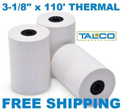 "FD-100 3-1/8"" x 119' THERMAL RECEIPT PAPER - 20 NEW ROLLS  ** FREE SHIPPING **"