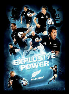 New Zealand All Blacks 'Explosive Power' Poster Framed
