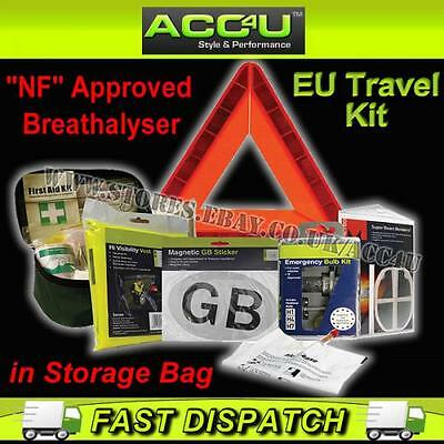 Euro European NF Approved Continental Driving Abroad Legal EU Travel Kit in Bag