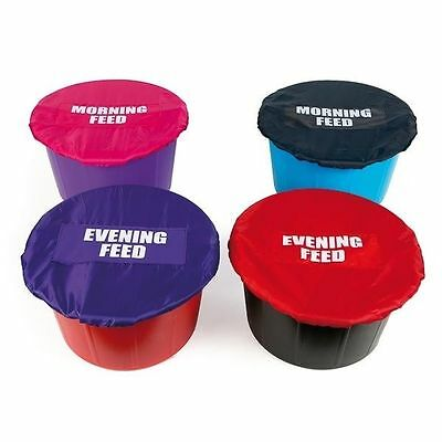 Horse Feed Bucket Covers - Morning Feed or Evening Feed Bucket Covers