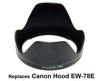 Bayonet Lens Hood for Canon EF-S 15-85mm f/3.5-5.6 IS lens reaplces EW-78E