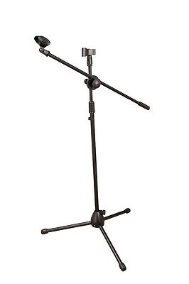 professional black microphone stand adjustable telescopic boom stage wd-200s