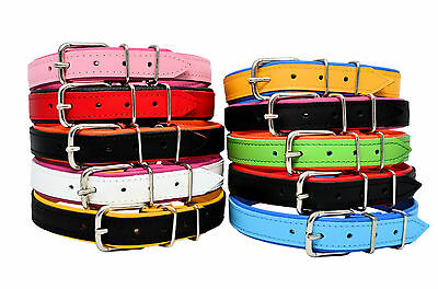 Handmade Real LEATHER LARGE BREEDS DOG COLLARS COLOUR PADDED L, XL, XXL