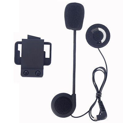 Mic/Headphone/Speaker+Clip/Mount for FDCVB Motocycle Helmet Bluetooth interphone