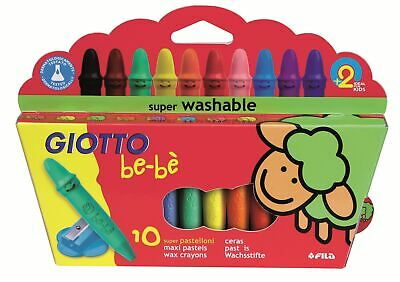LYRA GIOTTO be-bè 10 Super Wachsmalstifte + Spitzer Wachsmaler Stifte be-be bebe