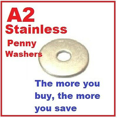 A2 Stainless Penny Washers