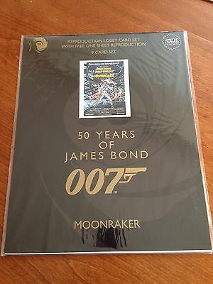 James Bond 50 Years - Moonraker - 9 Lobby Card Collectors Set - NEW