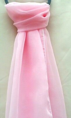 Beautiful Ladies Plain Chiffon Scarf - Assorted Colours - Very Light Weight