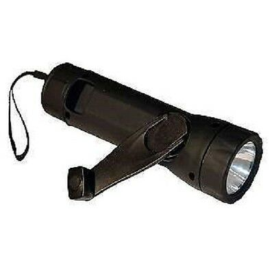 Forever LED Flashlight Hand Crank Rechargeable Emergency Light Car Camping NEW