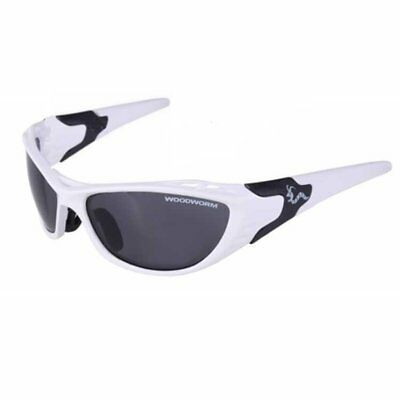 Woodworm Performance Sunglasses (White) inc Free Hard Case