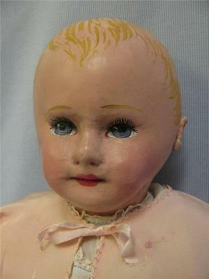 "22"" Antique MARTHA CHASE Cloth Doll c1900 Original Paint, Weighted & Sweet!"