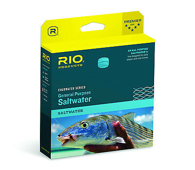 Rio General Purpose Saltwater WF9F Fly Line - New - Lt Coral - Free US Shipping