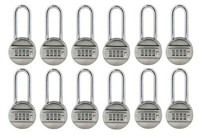 Set of 12 Resettable Set-Your-Own Combination 4-Digit Padlock 2-3/4-inch Shackle