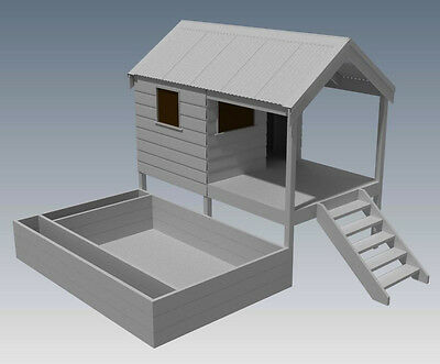 CUBBY HOUSE & SAND PIT COMBO - Build With Your Children - Full Building Plans V2