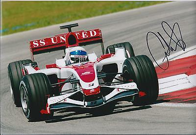Anthony DAVIDSON SIGNED Autograph Indianapolis Speedway 12x8 Photo AFTAL COA