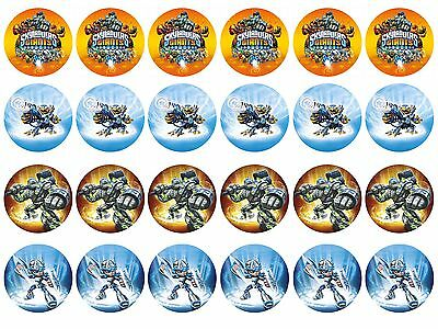 Skylanders Cupcake Edible Icing Party Cake Topper Decoration Image Custom