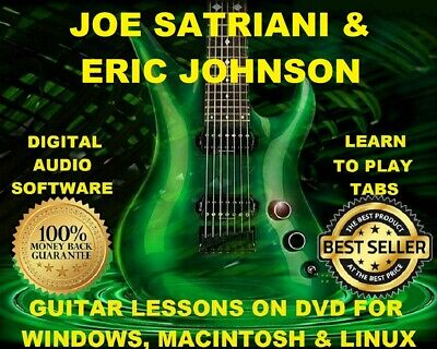 Joe Satriani 341 & Eric Johnson 73 Guitar Tabs Software Lesson CD & 150 BTs