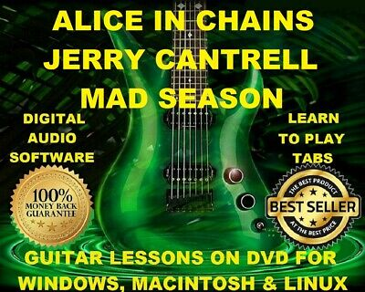 Alice In Chains 364 Jerry Cantrell 74 Mad Season 34 Guitar Tabs Lesson CD 34 BTs
