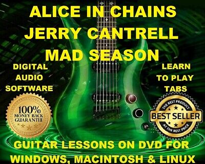 Alice In Chains 364 & Jerry Cantrell 74 Guitar Tabs Software Lesson CD & 33 BTs