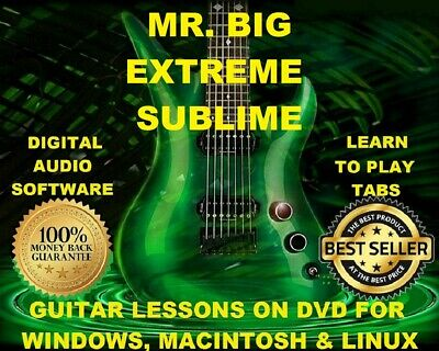 Mr Big 111 Extreme 99 Sublime 100 Guitar Tabs Software Lesson Cd