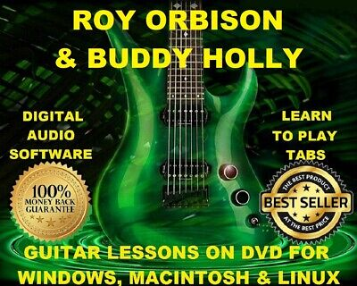 Buddy Holly 113 Roy Orbison 91 Guitar Tabs Software Lesson & 53 Backing Tracks