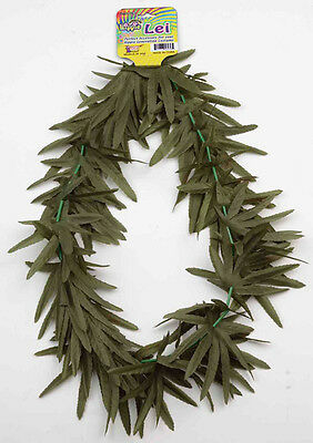 Hawaiian Luau Party Lei Green Leaf Flower Leis Halloween Costume Accessory 56236