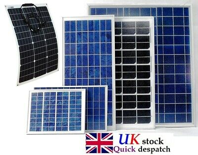 40w 50w 100w 200w PV Solar Panel Trickle 12v Battery Charger Caravan UK stock