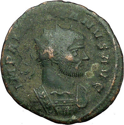 AURELIAN receiving globe from nude Jupiter 272AD  Ancient Roman Coin  i34479