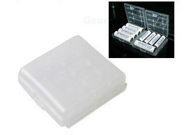 2x Hard Plastic Case Holder Storage Box Cover for Rechargeable AA AAA Battery