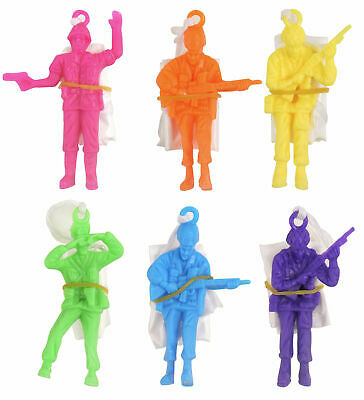 6 Parachute Men - Parachutist Pinata Toy Loot/Party Bag Fillers Wedding